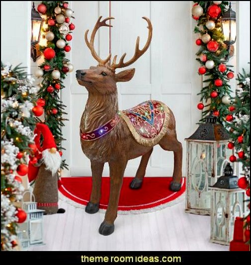 Santa's North Pole Illuminated Reindeer Holiday Statue  Christmas gifts - Christmas shopping - Christmas decorations - Santas shopping mall - Christmas decorating - gift ideas for mothers - gifts for men - gift ideas for women -  gift ideas for girls - gift ideas for boys -