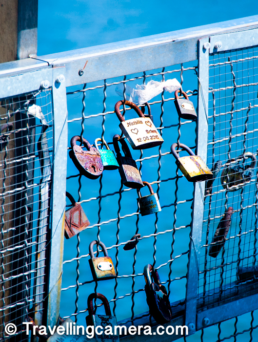 As we were crossing one of these bridges over Vistula river, we noticed these locks almost all around. I don't have much context about this tradition of putting locks on bridges with the names but it seems lots of movies are also encouraging this trend across the world. I have started seeing these in India as well. I am not going into re-defining how it started as it's stated well on Wikipedia.     You may want to explore more Rivers on this blog by simply clicking here.