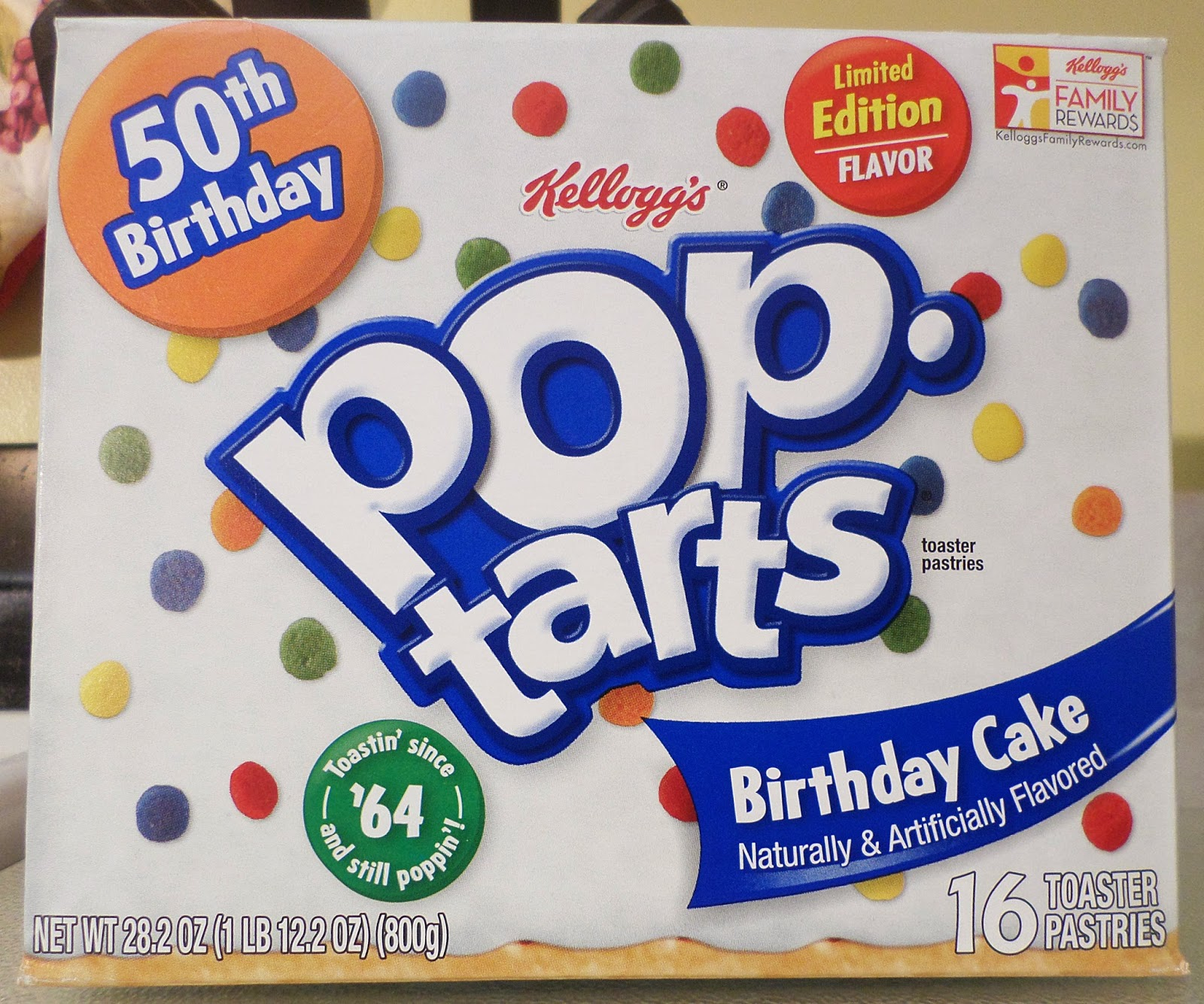 Peanut Butter And Awesome: Review: Limited Edition Birthday Cake Pop-Tarts