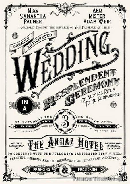 Crazy But Cool Wedding Invitations