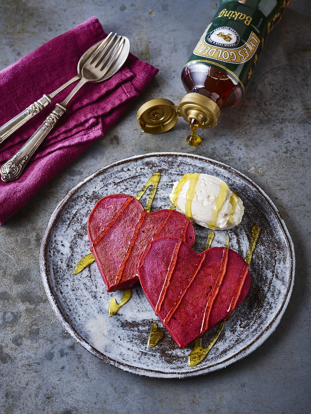 How To Make Red Velvet Heart Beet Pancakes