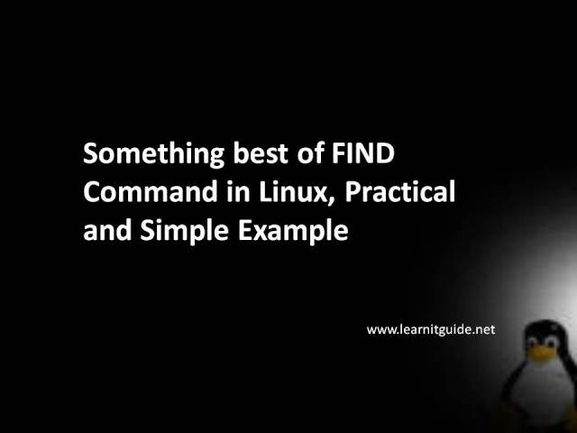Find Command in Linux, Practical and Simple Example