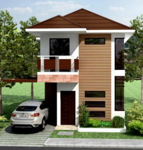 Collection 50 beautiful narrow house design for a 2 story for Simple two storey house design