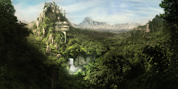 fantasy mountains mountain deviantart palace island keep cool landscapes many pokemon base forgotten ancient forest castles known forbidden eclipse adventure