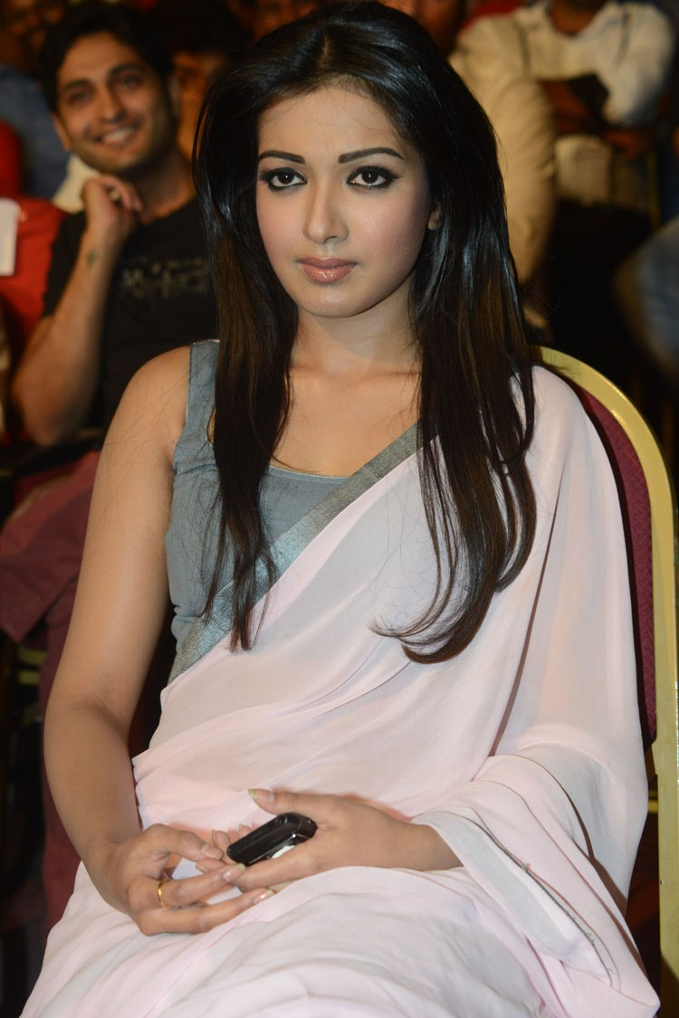 sexy exotic Catherine theresa in saree latest at paisa audio launch