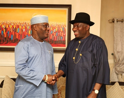 Atiku Visits Jonathan At Home; Says History Will Be Fair To GEJ As A True Democrat