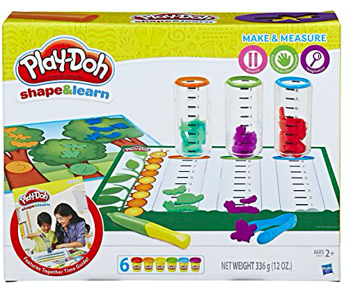 play-doh, shape and learn, make and measure
