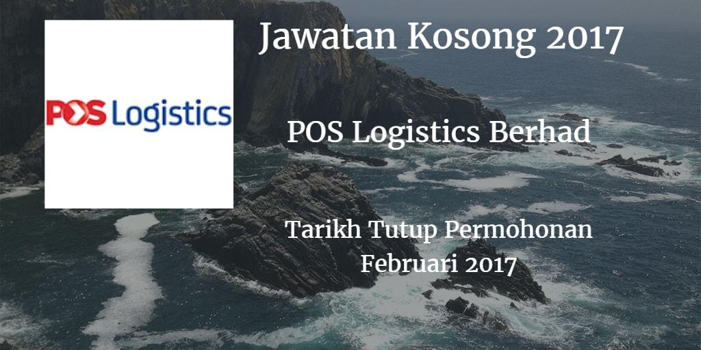Jawatan Kosong POS Logistics Berhad Februari 2017