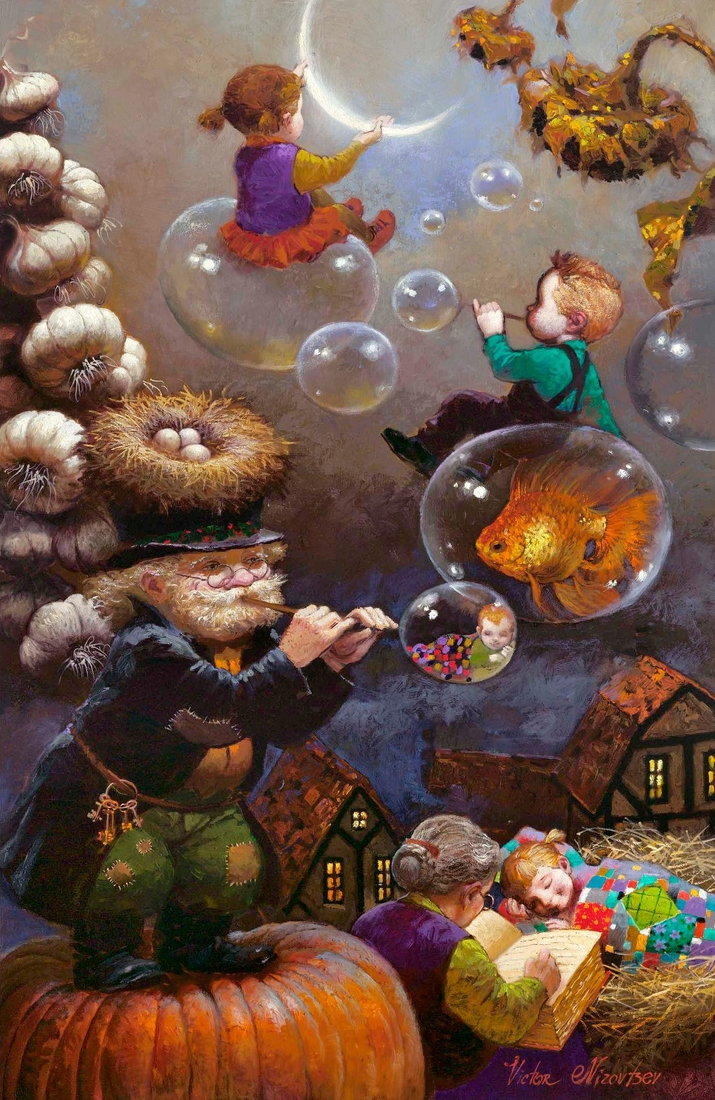 02-Riding-the-Bubbles-Victor-Nizovtsev-Daydreaming-with-Fantasy-Oil-Paintings-www-designstack-co