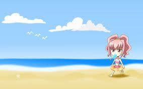 Wallpaper kartun di pantai