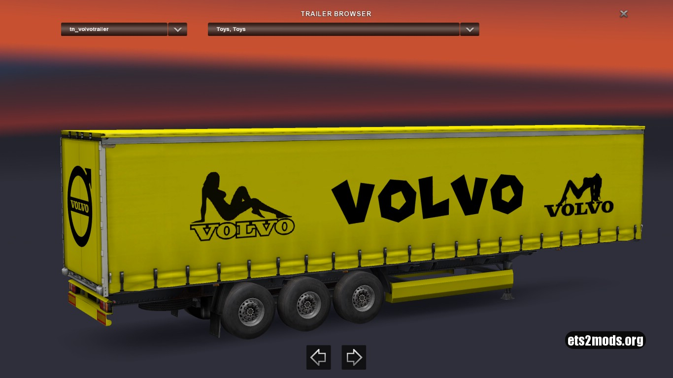 Volvo Yellow Trailer
