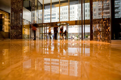 Gold Marble Floor Tile Colors design implementations for lobby