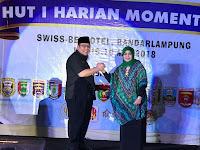 Ketua GRANAT Lampung Terima Penghargaan  Momentum Award