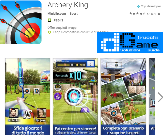 Soluzioni Archery King di tutti i livelli | Walkthrough guide