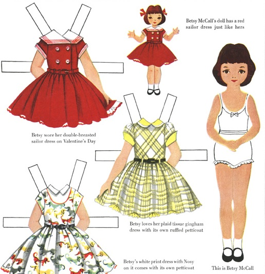 Mrs T S Christmas Kitchen Betsy Mccall Paper Dolls