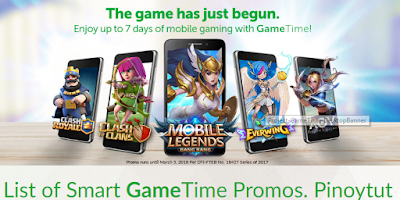 List of Smart GameTime Promos
