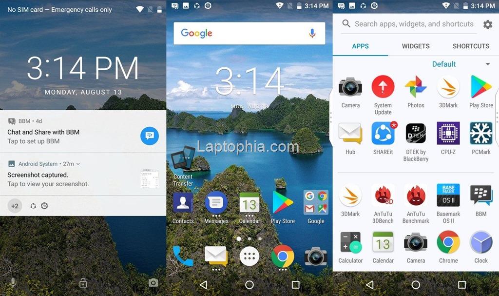 Software & Fitur BlackBerry Aurora