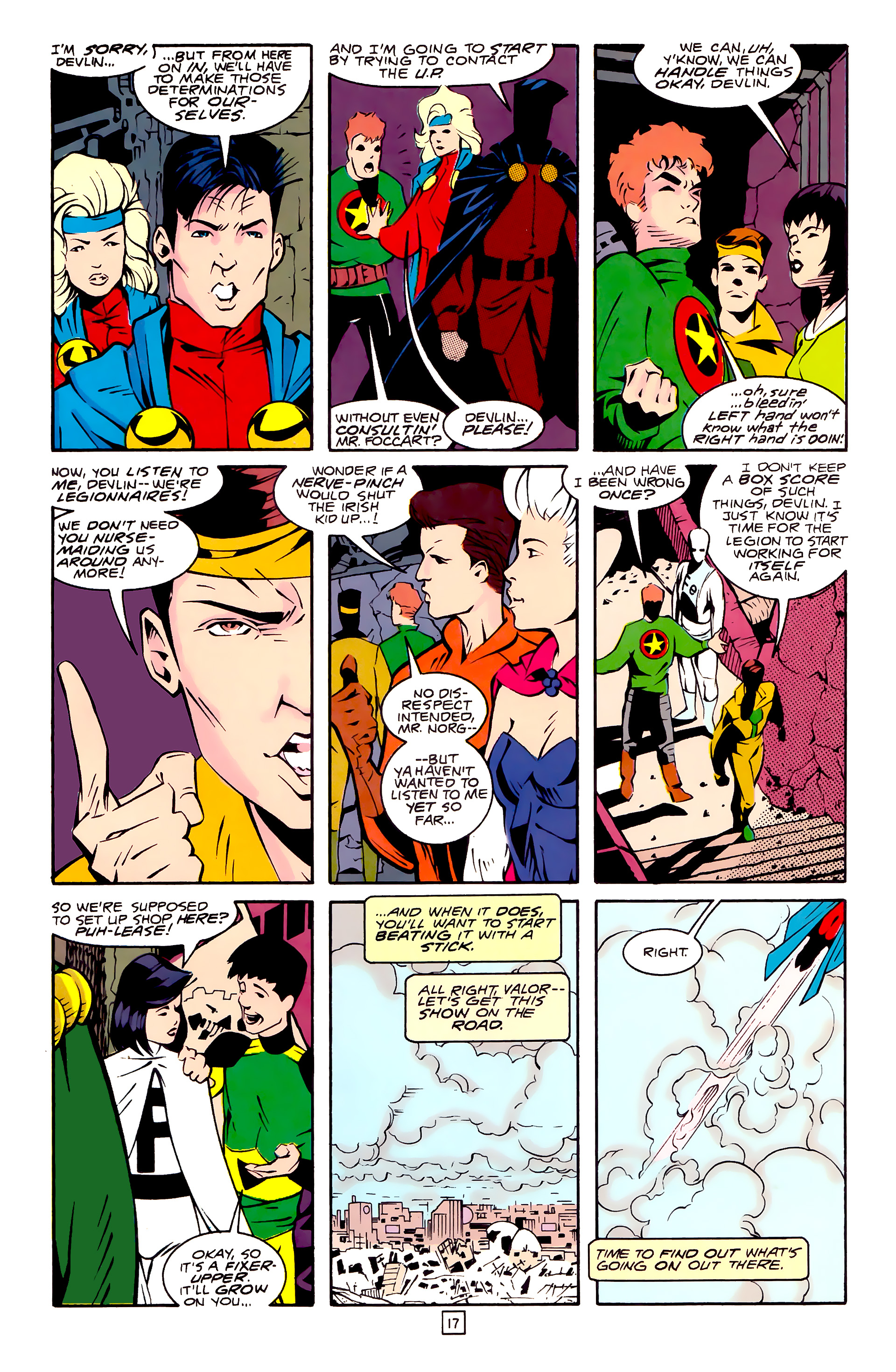 Legion of Super-Heroes (1989) 30 Page 17