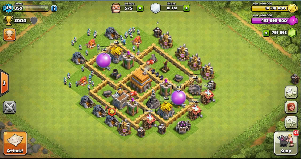 Berikut ini contoh war base layout clash of clans th 5 yang harus kamu