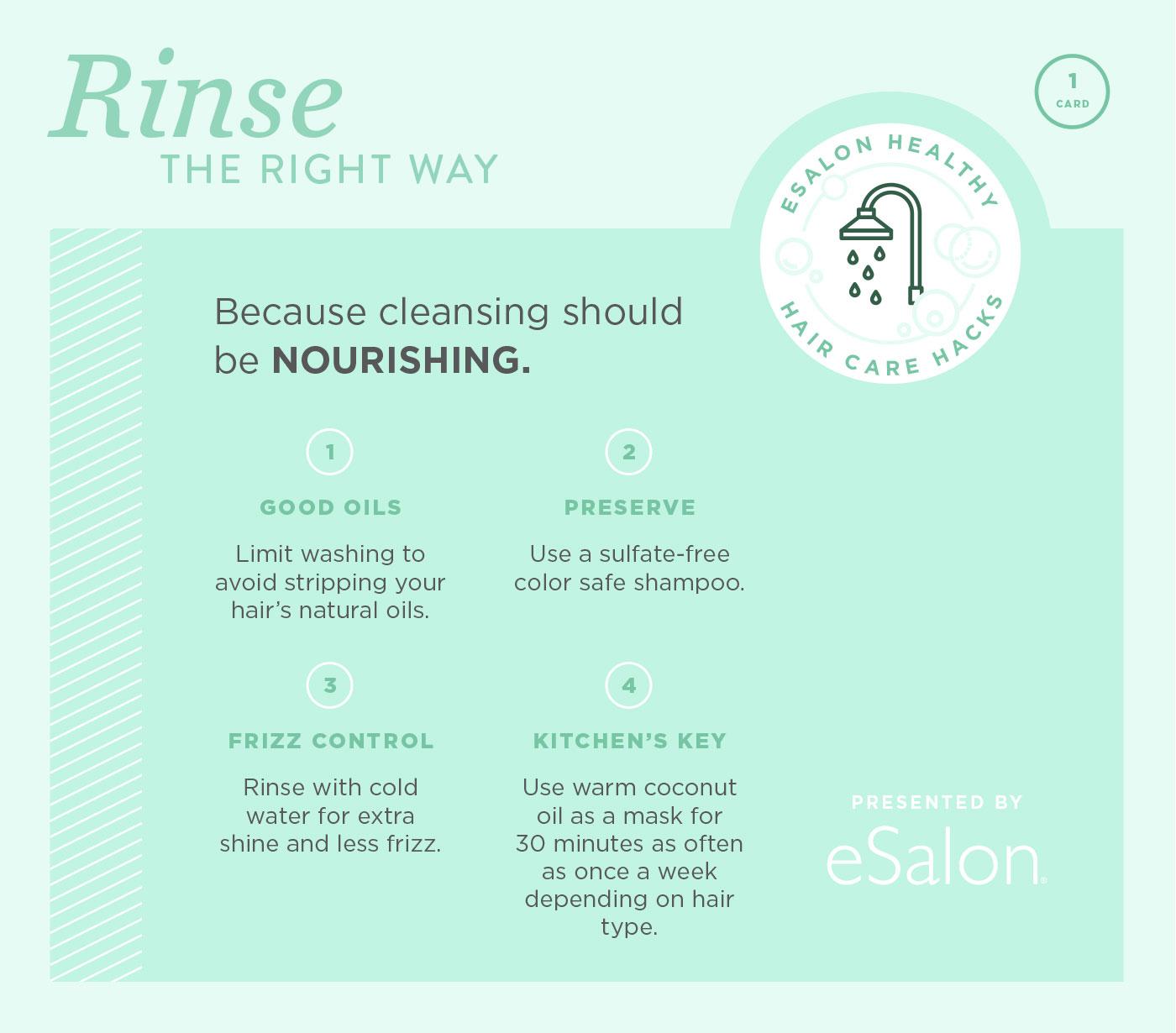 eSalon Haircare Hack Card Rinsing