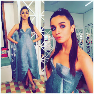 Alia Bhatt in a Ulyana Sergeenko gown at Absolut Elyx Filmfare Glamour and Style Awards