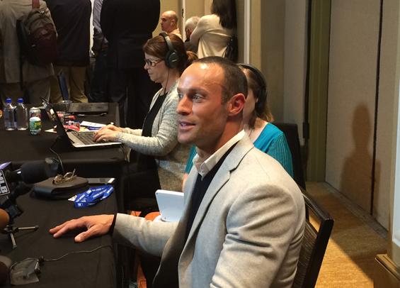 Philadelphia Phillies manager Gabe Kapler talks at WInter Meetings