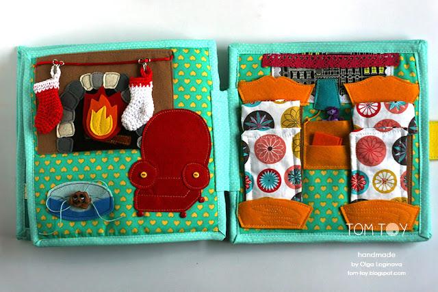 Dollhouse quiet book Развивающая книжка Кукольный домик