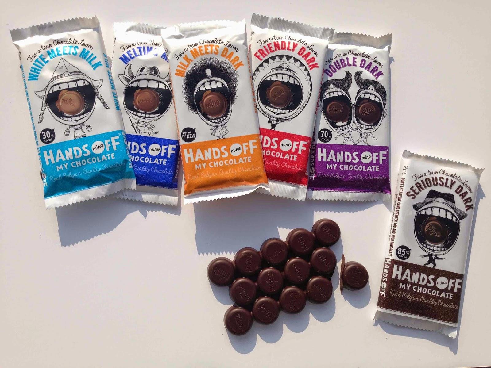 My happy kitchen test: Hands off My Chocolate. En ik verdeel drie test repen!
