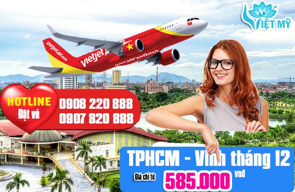 Giá vé máy bay TPHCM đi Vinh tháng 12