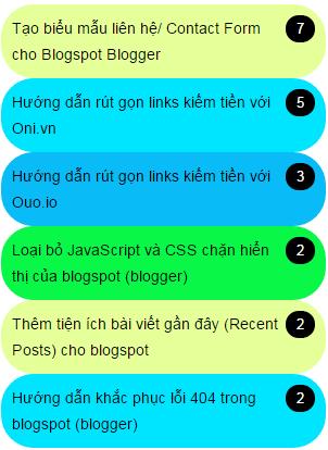 Tiện tích bài đăng nhiều bình luận (comment) nhất cho Blogspot