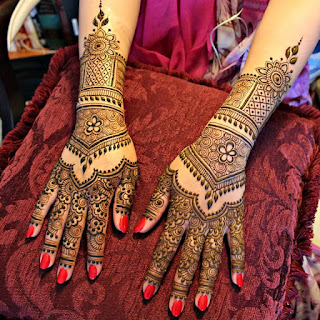 Beautiful Mehndi designs not only look good on the bride but also cools down her body.