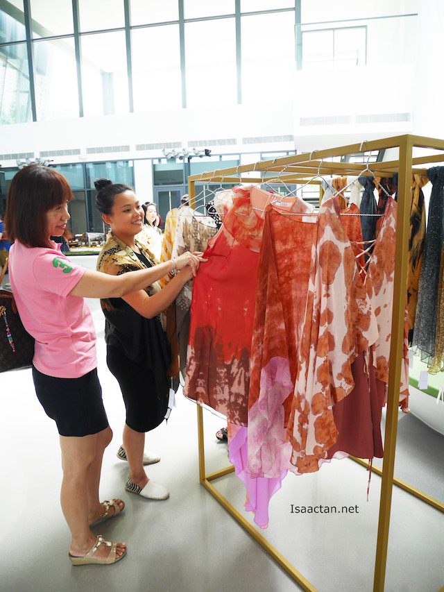 Guests were intrigued with the batik designs