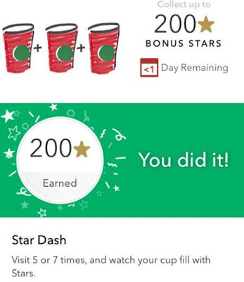 Starbucks Star Challenge - December 2016 - 200 Stars Earned