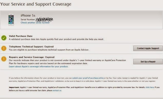Gudivada Somaraju Hemanth: How to Check Apple iPhone Warranty