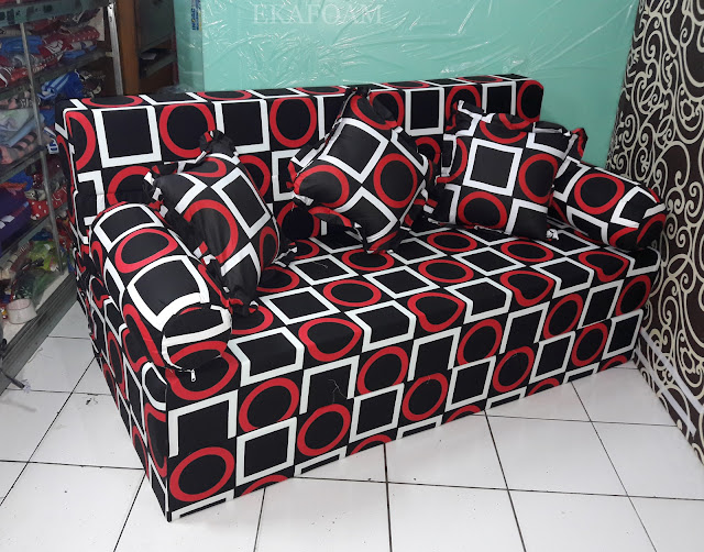 Sofa bed inoac motif abstrak gerai gory