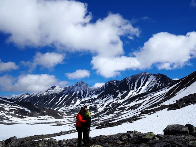 Urdadalsbekken, Jotunheimen, Norsko, trek, příroda, hory, láska