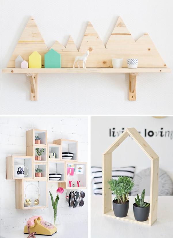Idee fai da te con il legno blog di arredamento e for Oggetti fai da te per arredare casa