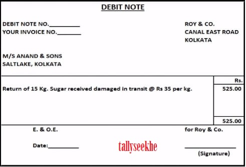 Debit Note Credit Note Sale Purchase Return In Hindi