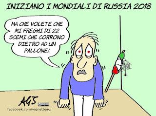 russia 2018, mondiale, calcio, sport, nazionale, Italia, umorismo, vignetta, satira