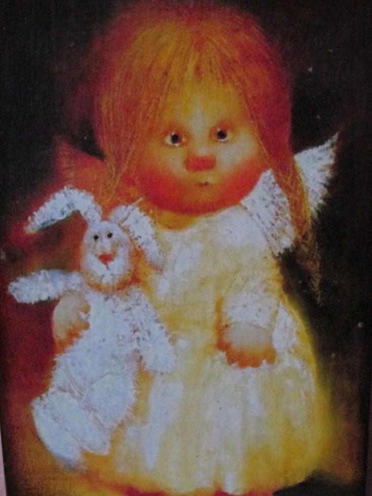 Життєві історії від Ольги Чорної  Сумний ангел з білим зайчиком 304658f0131f7