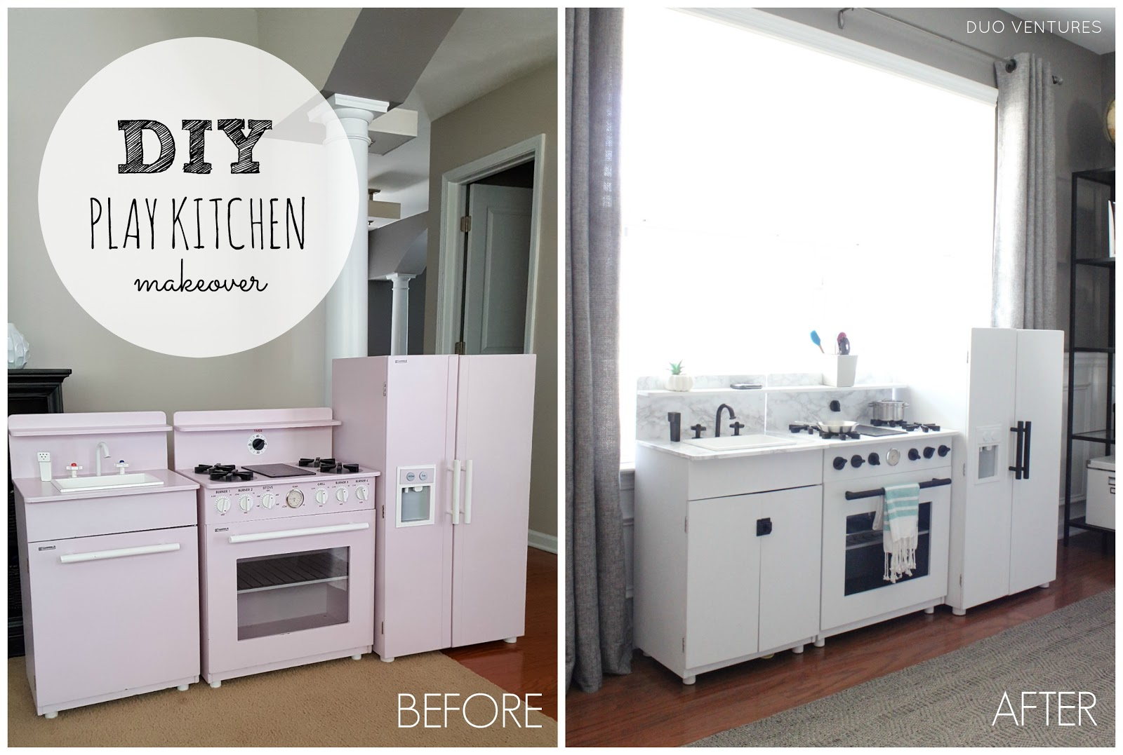 Duo Ventures: DIY Play Kitchen Makeover