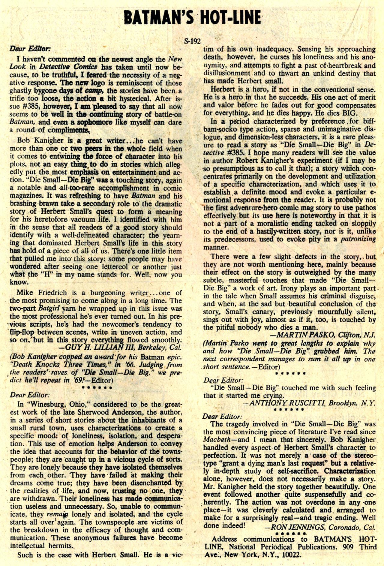 Detective Comics (1937) 389 Page 19