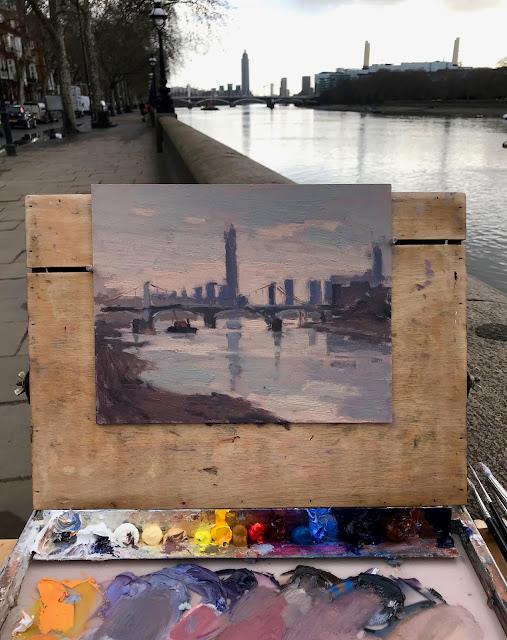 #321 'Early Morning, Chelsea Bridge' 8×10″ & The Artist Mind