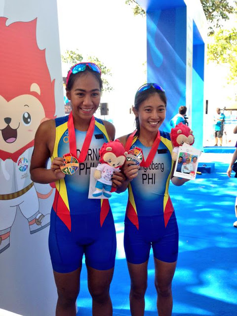 Triathlete Claire Adorna bags Philippines' first gold