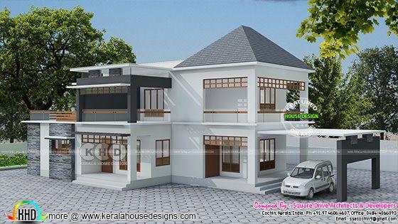 Modern 4 BHK residence plan