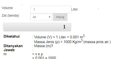 1 Liter Berapa Kg Berikut Jawaban Dan Penjelasannya Rumus Matematika Sd Smp Sma