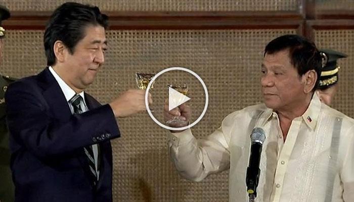 LOOK: Palitan ng Jokes Between Duterte at PM Shinzo sa Kanilang Haponan