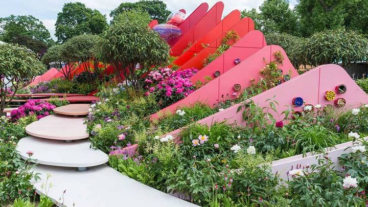 Silk Road Garden, Chengdu, China. Laurie Chetwood y Patrick Collins. Chelsea Flower Show 2017