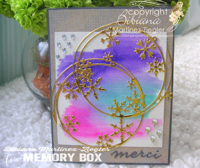 watercolor winter thank you card front