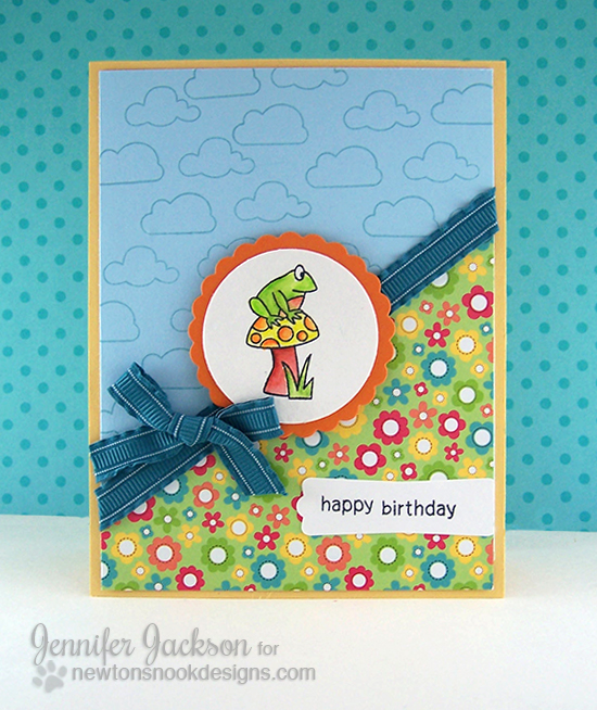 Birthday Frog card using the Magical Dreams stamp set by  Newton's Nook Designs